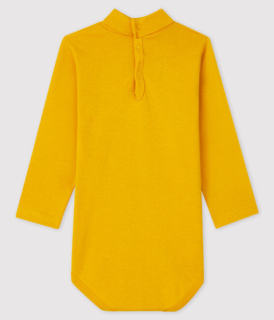 Baby's long-sleeved roll-neck bodysuit Boudor yellow
