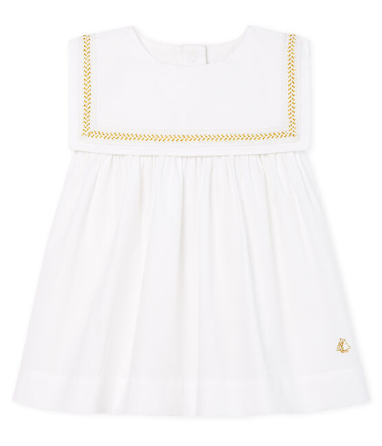 Baby Girls' Formal Dress Ecume white