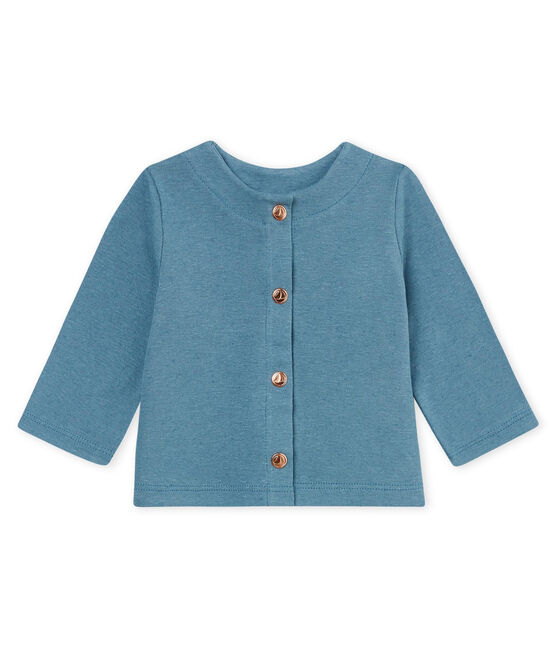 Baby girls' cotton/linen cardigan Crystal blue