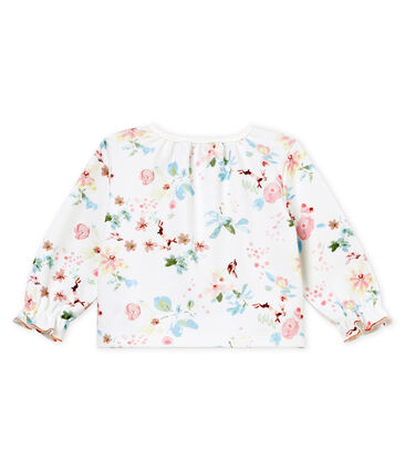 Baby girls' printed cardigan