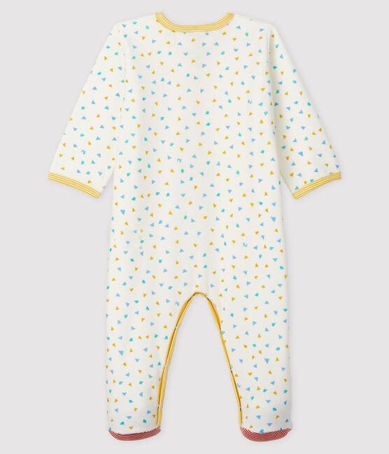 Babies' Confetti Print Velour Sleepsuit Marshmallow white / Multico white