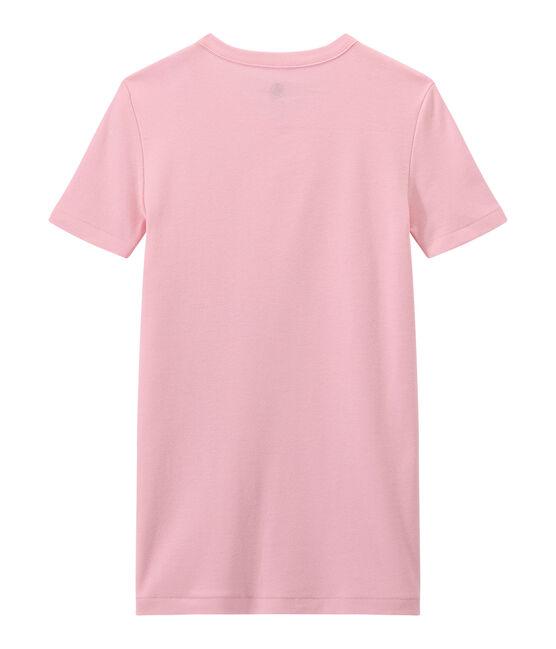 Women's T-shirt in heritage rib Babylone pink