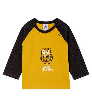 Baby Boys' Long-Sleeved T-Shirt Boudor yellow / City black