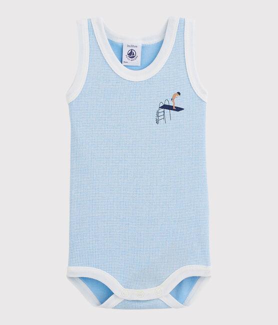 Baby Boys' Sleeveless Bodysuit Placid blue / Marshmallow white