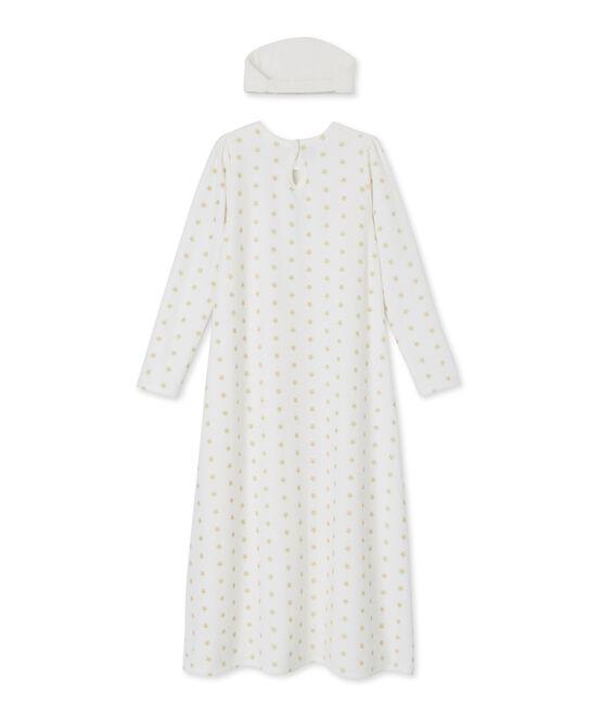 Girls' Nightdress Marshmallow white / Dore yellow
