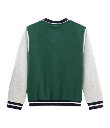 Boys' Baseball Jacket Sousbois green