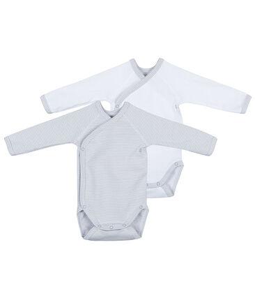 Set of 2 newborn's long-sleeved bodysuits . set