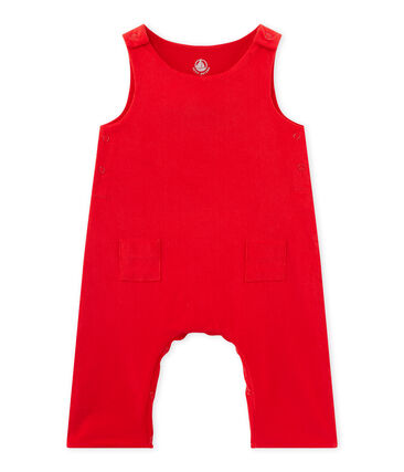 Baby boy's velours overalls Froufrou red