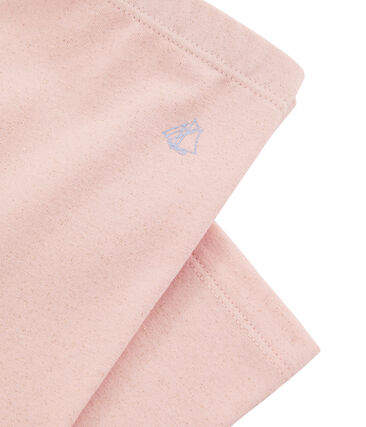 Girls' Cropped Leggings Minois pink / Or yellow