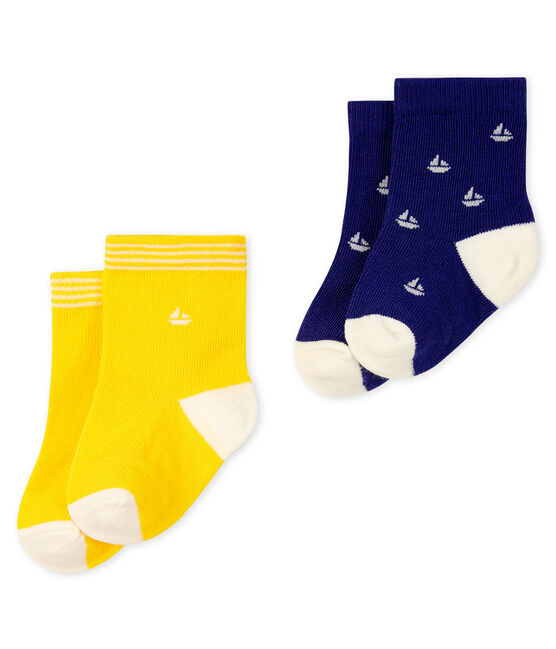 Set of 2 pairs of socks for baby boys Touareg blue