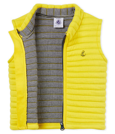Baby boys' jacket in quilted tube knit