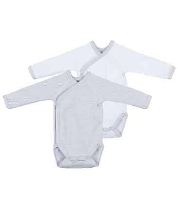 Set of 2 newborn's long-sleeved bodysuits
