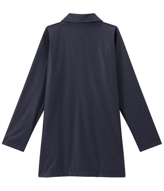 Women's overcoat-style waterproof raincoat Smoking blue