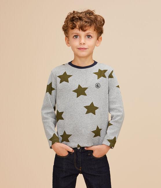 Boys' Printed T-shirt Subway grey / Multico white