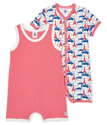 Baby Boys' Ribbed Playsuit - 2-Piece Set . set