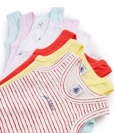Surprise pack of 7 sleeveless bodysuits for baby girls