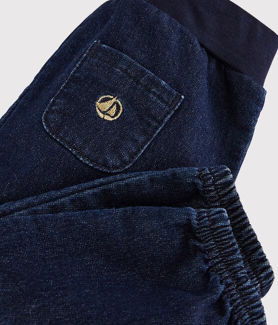 Baby girl's denim-look trousers. JEAN