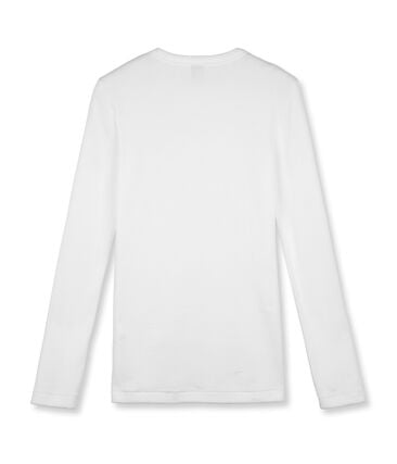Women's Long-Sleeved Iconic T-Shirt Ecume white