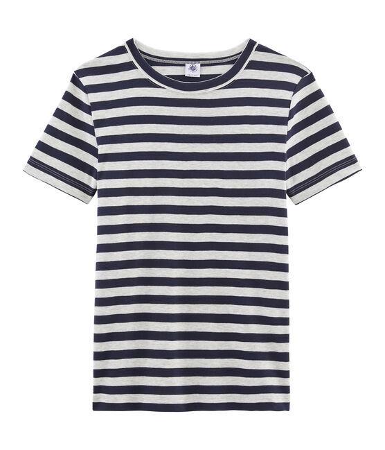 Women's Short-Sleeved Iconic T-Shirt Smoking blue / Beluga grey