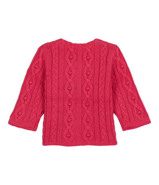 Cable-knit cardigan Impatience pink