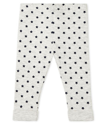Baby Boys' Print Tube Knit Trousers. Beluga grey / Smoking blue