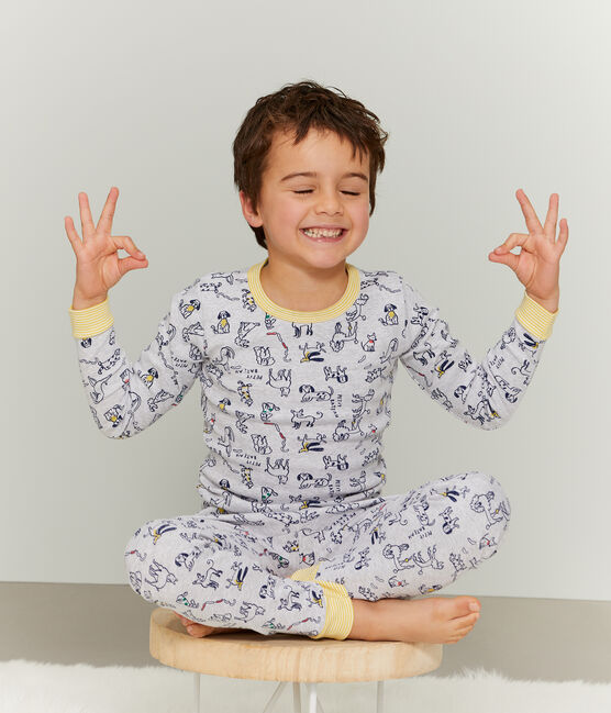 Boys' Ribbed Pyjamas - 2-Piece Set . set