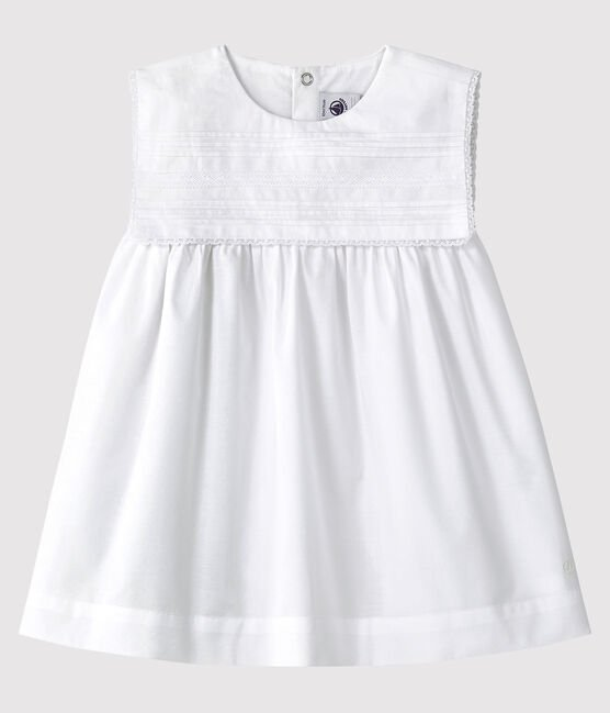 Baby girl's formal dress Ecume white
