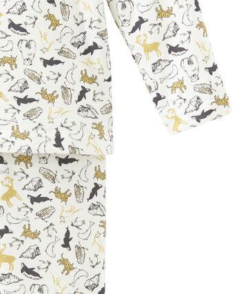 Little boy's pyjamas Marshmallow white / Multico white
