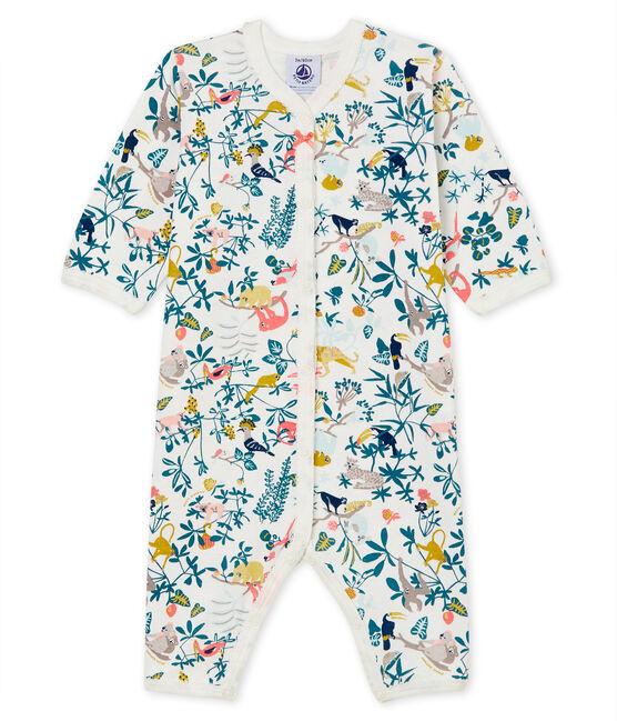 Baby girls' sleepsuit Marshmallow white / Multico white