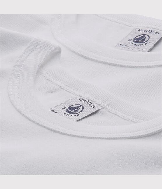 Boys' White Short-sleeved T-Shirts - 2-Pack . set