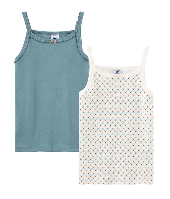Girls' strap vest - Set of 2 . set