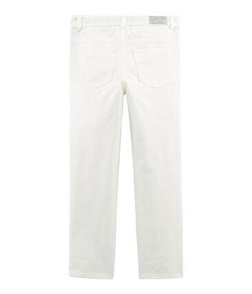 Boys' Trousers Marshmallow white