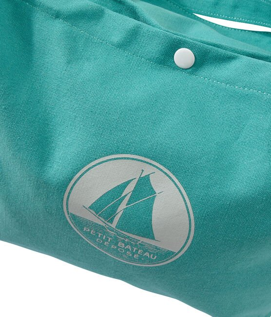 Girl's canvas tote bag Verde green