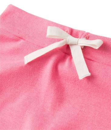 Baby girls' shorts and tee set Brazilian orange / Petal pink