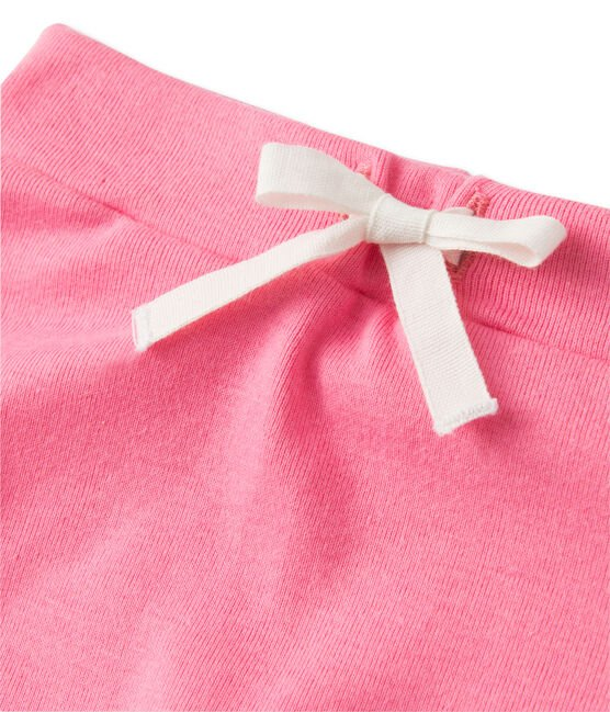 Baby girls' shorts and tee set Brazilian orange / Petal pink