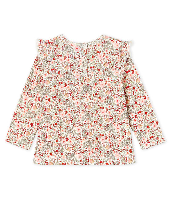 Baby Girls' Long-Sleeved Print Blouse Marshmallow white / Multico white