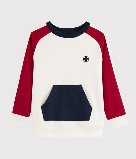 Boy's Sweatshirt MARSHMALLOW/TERKUIT/SMOKING