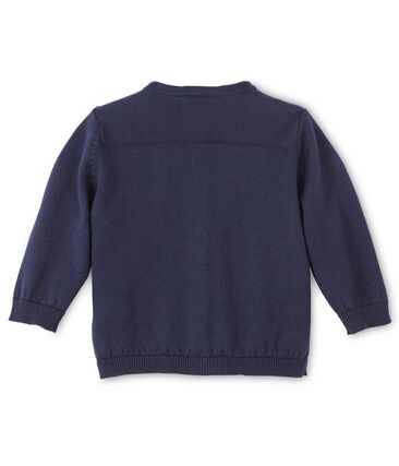 Baby girl's cotton cardigan Smoking blue