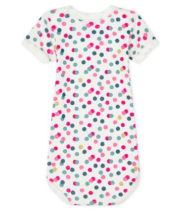 Baby girls' short-sleeved bodysuit Marshmallow white / Multico white