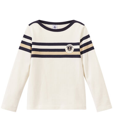 Boy's sailor top in heavyweight jersey