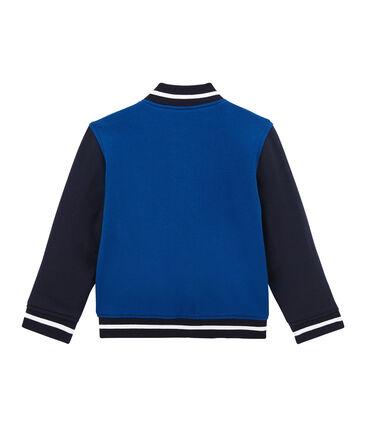 Boy's varsity jacket in lined cotton sweatshirt
