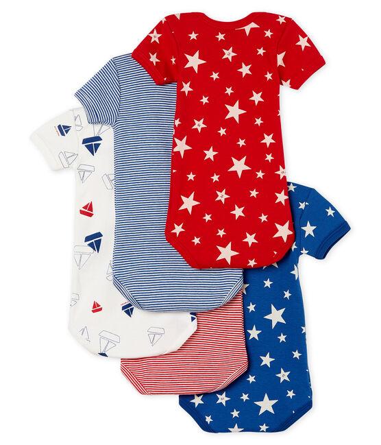 Baby Boys' Short-Sleeved Bodysuit - Set of 5 . set