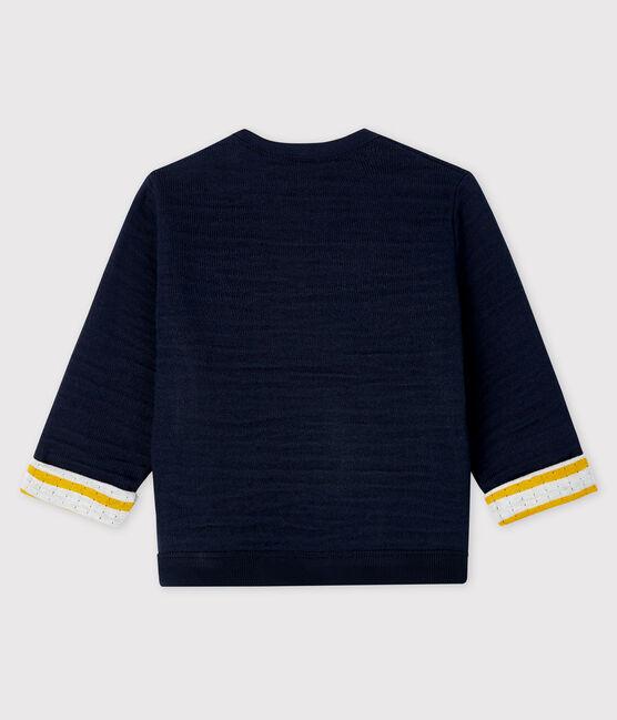 Baby boy's tubular knit sweatshirt Smoking blue