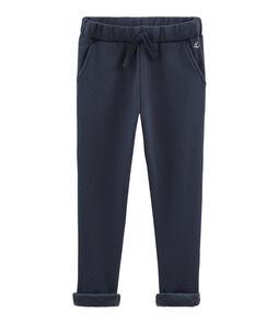 Boys' Warm Fleece Trousers Smoking blue