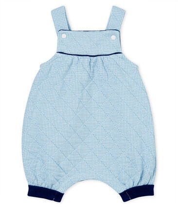 Babies' Quilted Tube-Knit Dungaree Shorts