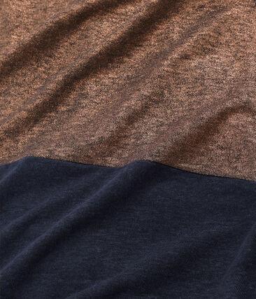 Women's iridescent linen short-sleeved dress