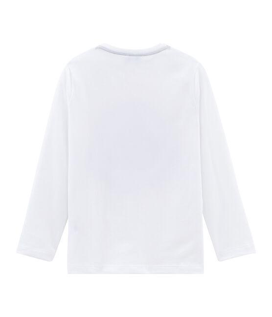 Unisex child's long-sleeved flocked T-shirt Marshmallow white