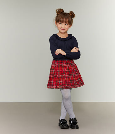 Girls' Skirt Terkuit red / Multico white