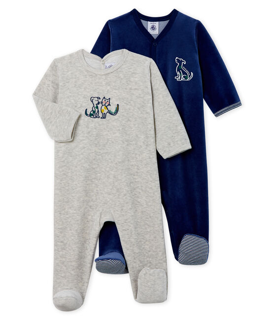 Baby Girls' Velour Sleepsuit - 2-Piece Set . set