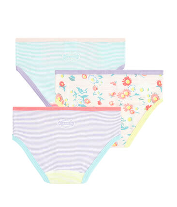 Girls' High-Rise Knickers - 3-Piece Set . set